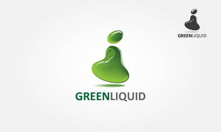 Green Liquid Vector Logo Template. This is an abstract liquid logo. Vector logo illustration.