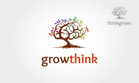 Growthink Vector Logo Template. Excellent logo,simple, modern, multicolor and unique.