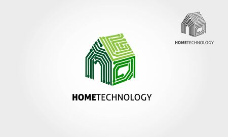 Home Technology Vector Logo Template. Basic of this logo is house and circuit, this logo try to symbolize a modern home technology.
