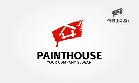Paint house vector logo design for real estate/property industry.