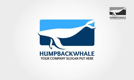 Hump Back Whale Vector logo template. The blue whale logo started as a project with a client. Illustration