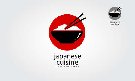 Japanese Cuisine is a multipurpose logo template, can be used in any companies related to asian food, rice, fast food, restaurants etc. Vector logo illustration.