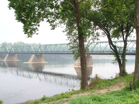 Delaware River Bridge, Bucks Co, PA Stock Photo