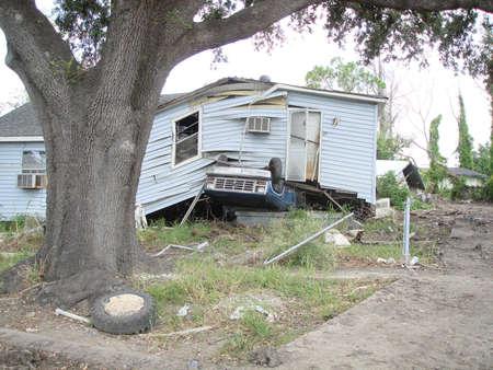 Lower 9th Ward damage from Hurricane Katrina, New Orleans, LA