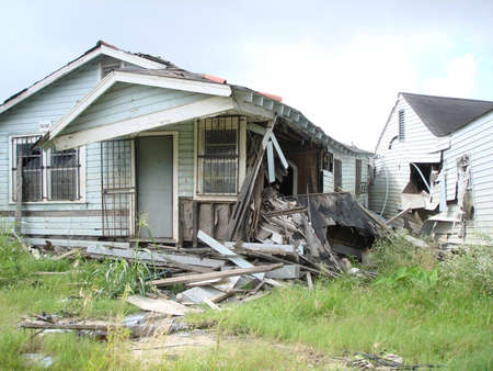 Lower 9th Ward, Hurricane Katrina destruction, One year later Stock fotó - 2176095