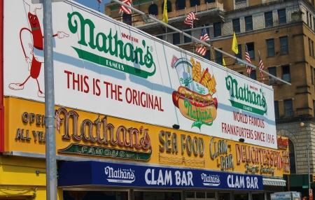 Nathan s Hot Dogs, Coney Island, NY Editorial