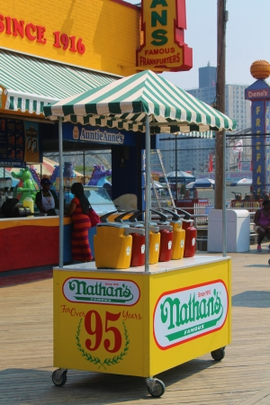 Nathan s Hot Dogs, Coney Island, NY Editorial