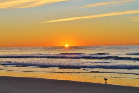 Sunrise over the Atlantic Ocean Stock Photo