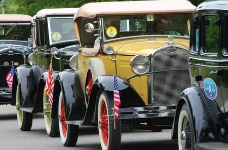 transportaion: Antique Cars Editorial