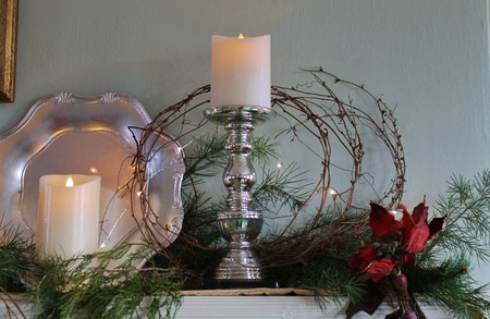 mantel: Candles on the Mantel