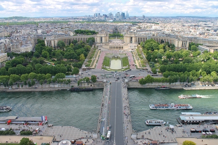 View of Paris from the Eiffel Tower Editorial