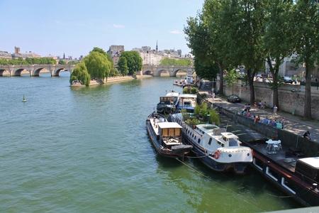 Seine River, Paris, France Editorial