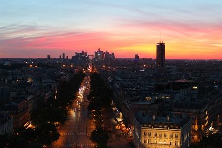 파리의 일몰