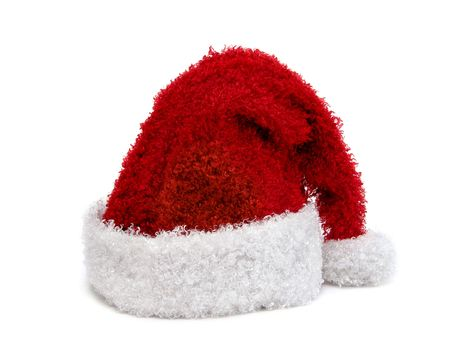 Santa hat on white background