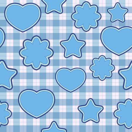 Blue application - seamless pattern Stock Photo - 10808382