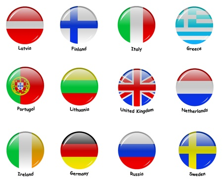European flages - part 1 Фото со стока - 10808381
