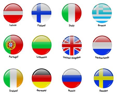 drapeau portugal: Flages europ�ennes - Partie 1 Banque d'images