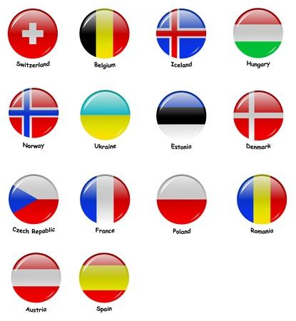 European Flages - Part 2 Vector