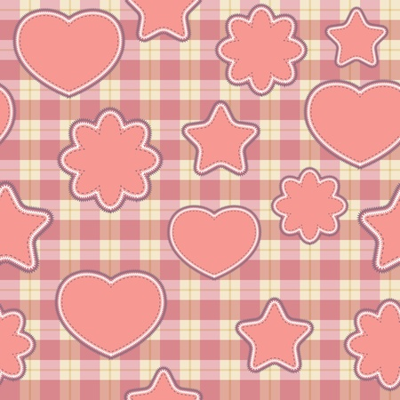 Pink applications - seamless patter Vector