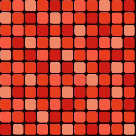 piso negro: Patr�n sin fisuras de la pila de color rojo Vectores