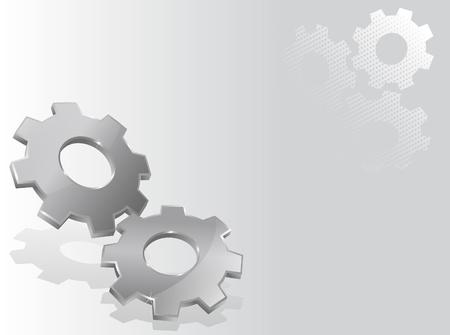 Illustratie met twee 3D versnellingen