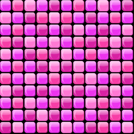 Seamless pattern of pink pile Vector