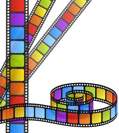 кинематография: цветная полоса фильм Иллюстрация
