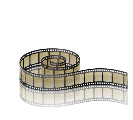 film industry: Illustration of twisted old film strip Illustration