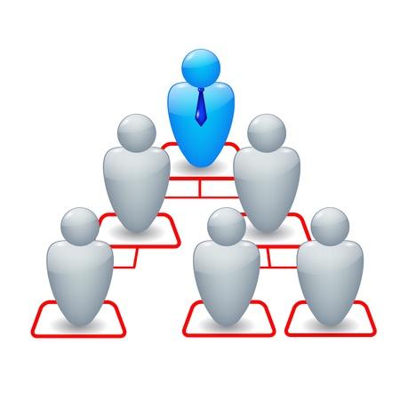 organigrama: Organigrama con iconos de personas