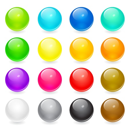 Set of colorful circle web buttons