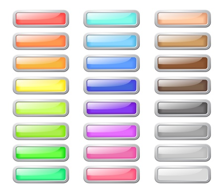 Set of pastel colored web buttons