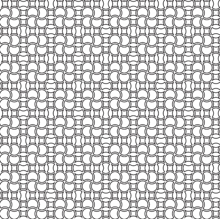 Seamless pattern with black and white geometric ornament