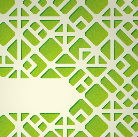 Abstract background with green geometric pattern Stock Vector - 23272842