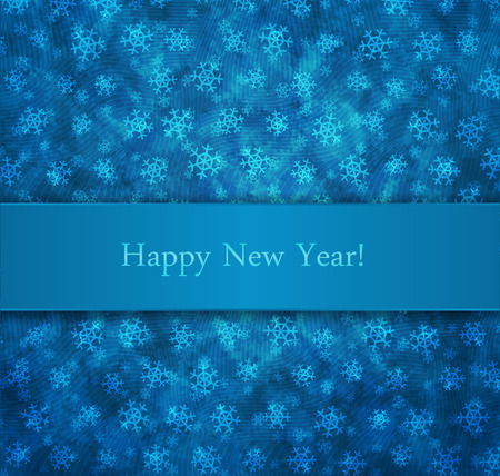 New year background with snowflakes and horizontal banner Vector