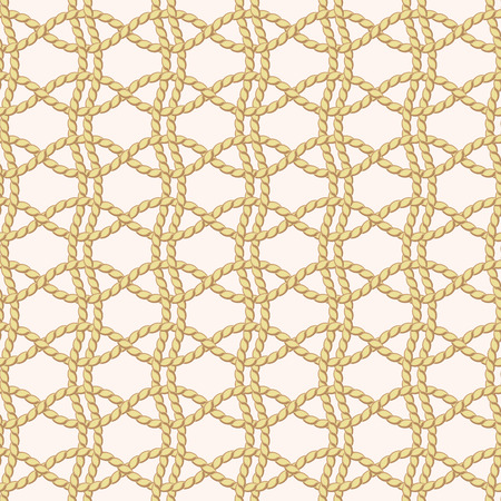 Seamless pattern with rope netting Illustration