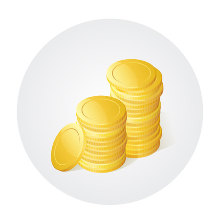 rouleau: Illustration of stack of golden coins