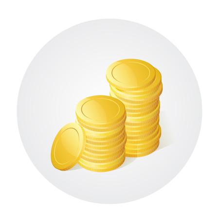 Illustration of stack of golden coins