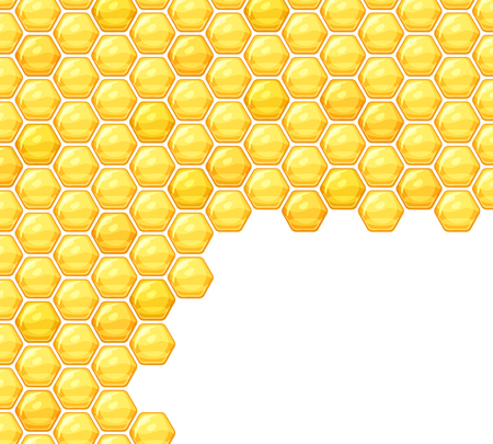 wax glossy: Background with honeycombs and space for text