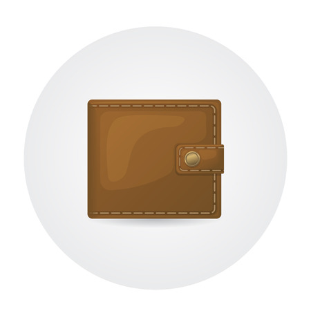 brown leather: Illustration of brown leather wallet
