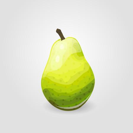 ripe: Illustration of one ripe pear. Fruit icon