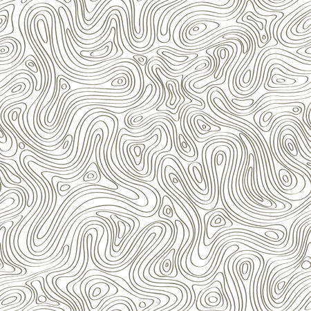 Seamless pattern with abstract curved lines. Topography contours pattern Иллюстрация