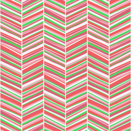 hand colored: Vector zigzag seamless pattern with rough hand drawn colored lines
