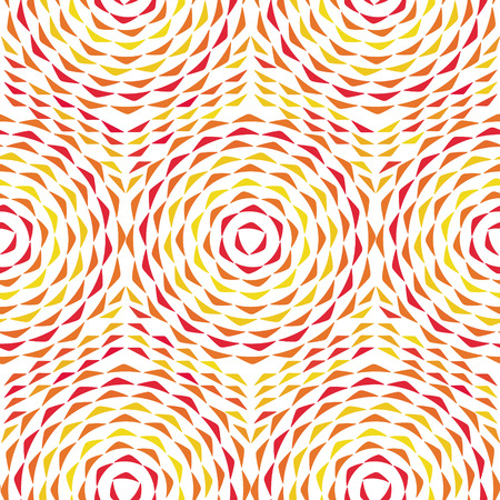Vector colored seamless pattern with concentric circles ornament