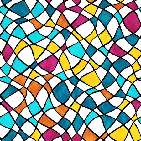 Vector seamless pattern with abstract colorful mosaic Stok Fotoğraf - 125808719