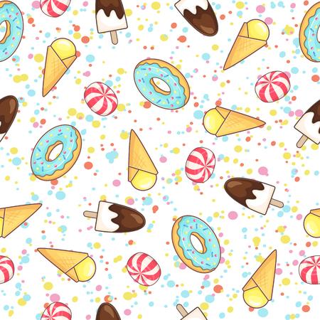 Dessert pattern Çizim