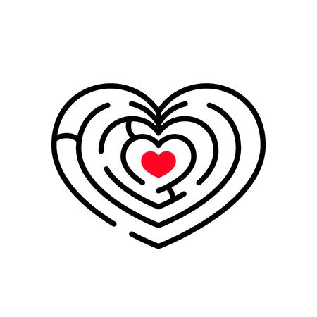 Maze in heart