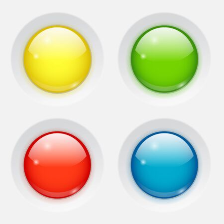 Colored round buttons