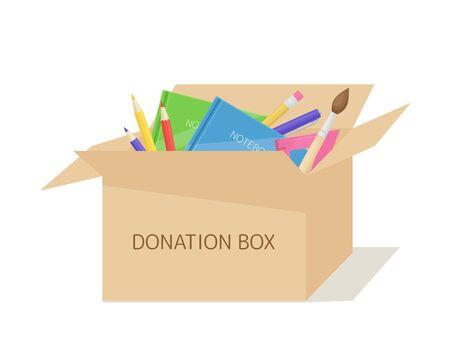 Donation box for school stuff