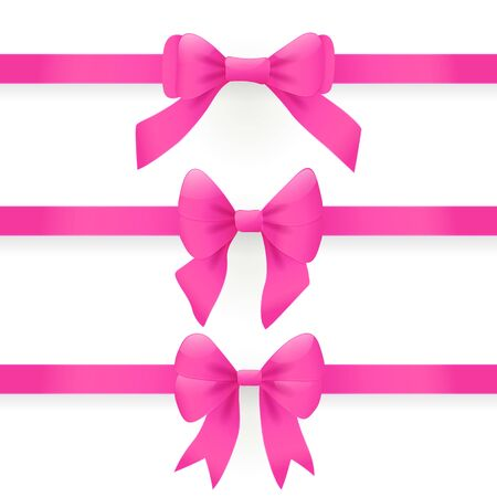 Pink bows and ribbons for gift box