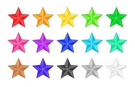 Colored star icons for rank or rating